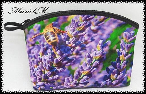 trousse de toilette arrondie lavande abeille muriel-m
