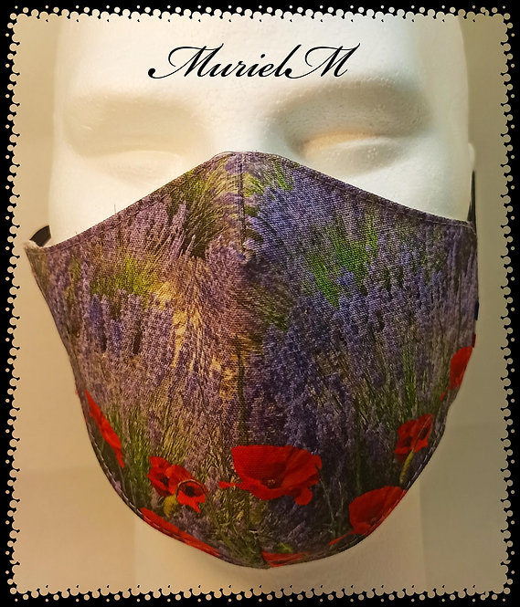 Masque Lavande Coquelicot muriel-m