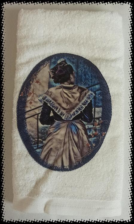 serviette éponge arlésienne médaillon muriel-m