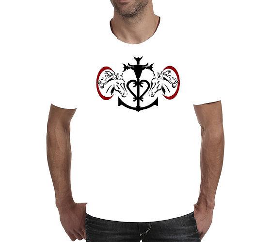 tee shirt croix de Camargue chevaux
