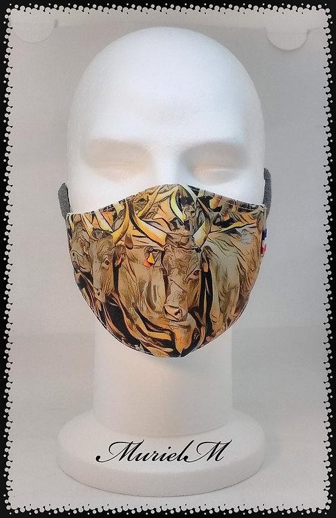 Masque Taureau Camargue