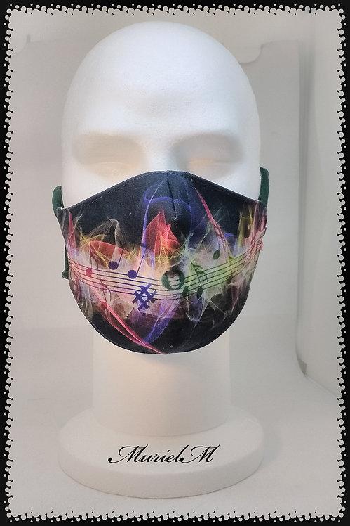 Masque Notes de Musiques muriel-m