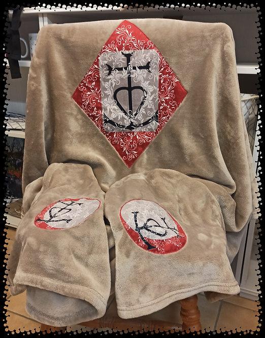 plaid croix de Camargue mandala muriel-m