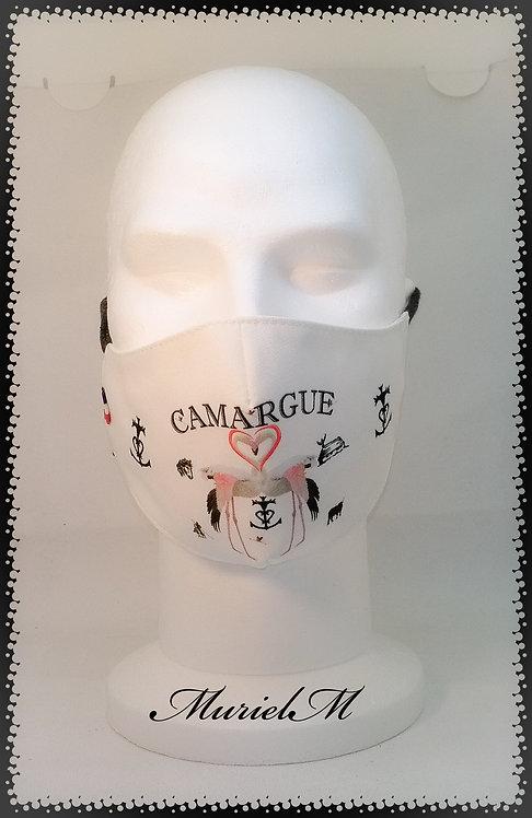 Masque Flamant Cœur Camargue