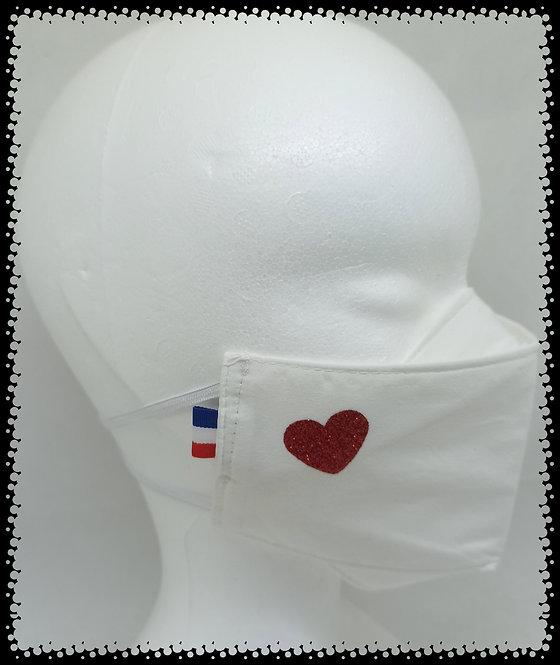 Masque  Cœur Rouge Brillant
