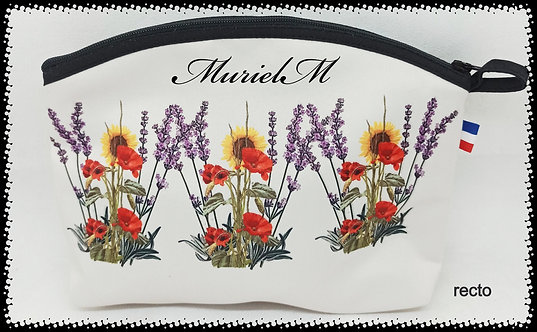 trousse de toilette arrondie bouquet de Provence