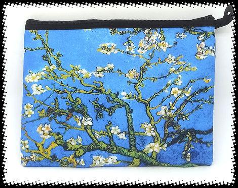 trousse rectangle les amandiers en fleurs