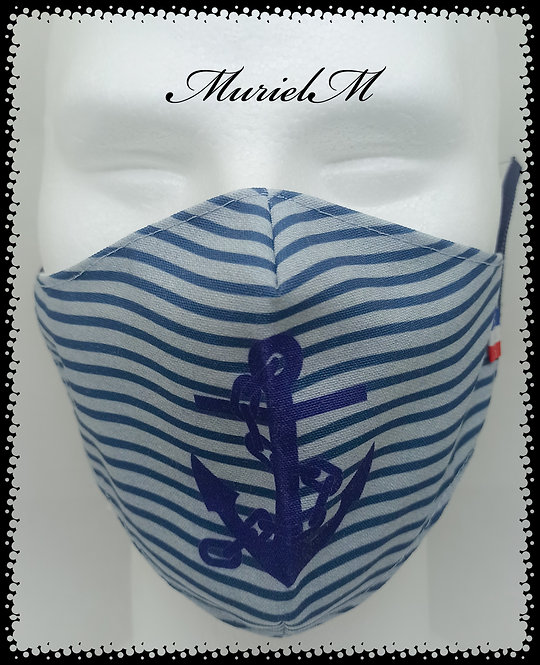 Masque Ancre Marine Rayure Jean muriel-m