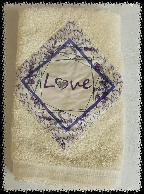 serviette éponge lavande love muriel-m