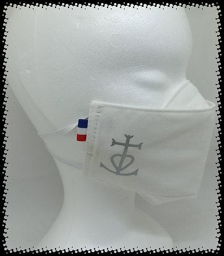 Masque Croix de Camargue Argent Métal