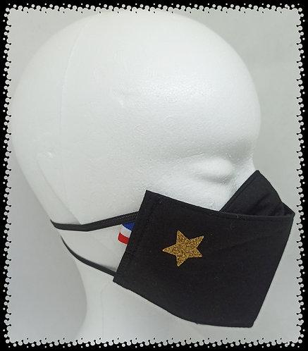 Masque Coton Etoile Or Brillant