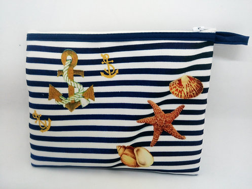 trousse plate ancre et coquillage