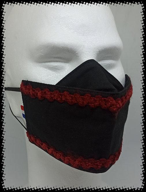 masque noir dentelles rouge muriel-m