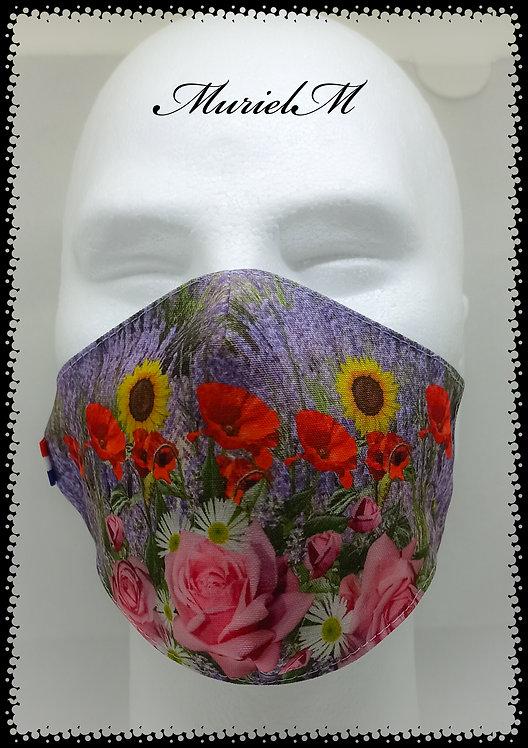 Masque lavande fleurs de provence muriel-m