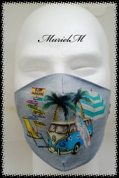 masque surfer vintage fond jean