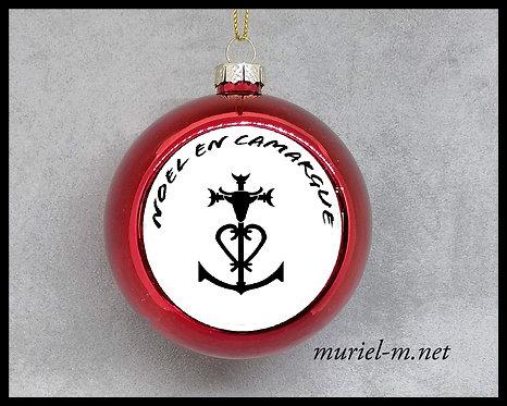 boule de noël croix de Camargue noël en Camargue