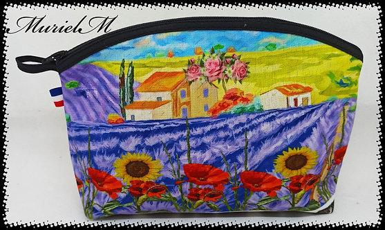 trousse de toilette arrondie paysage de Provence
