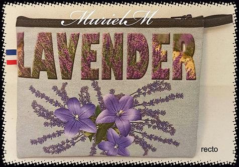 trousse rectangle rose et lavande Provence muriel-m