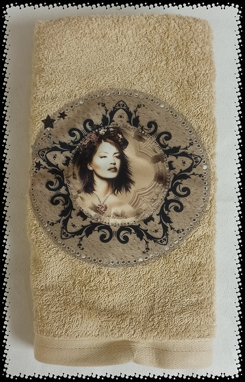 serviette éponge visage vintage