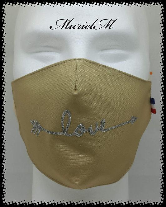 Masque Glitter Argent Love muriel-m