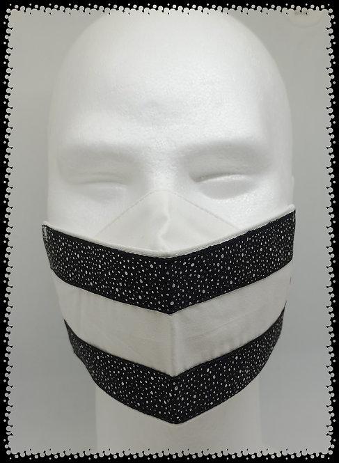 masque blanc glit paillette noir brillant muriel-m