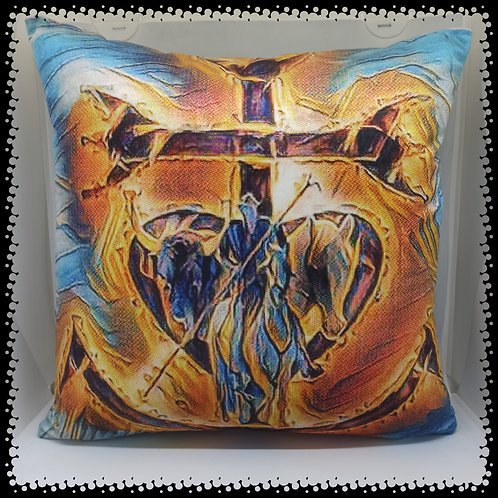coussin croix de Camargue painting muriel-m