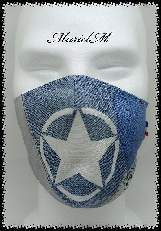 Masque Croix Blanche Fond Jean