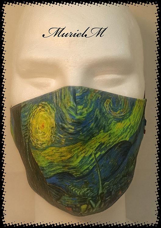 Masque Van Gogh La Nuit Etoilée muriel-m