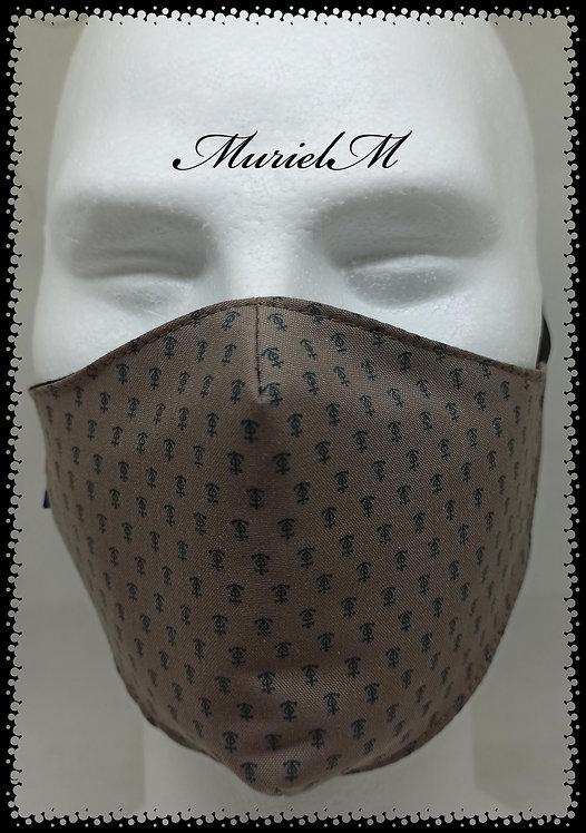 Masque Croix de Camargue sur Fond Marron muriel-m
