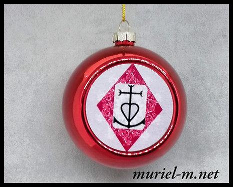 boule de noël croix de Camargue mandala