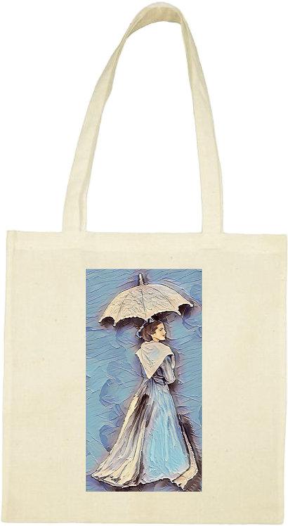 tot bag arlésienne bleue ombrelle muriel-m