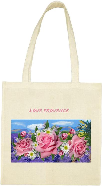 tot bag sac lavande fleurs Provence roses anglaises muriel-m