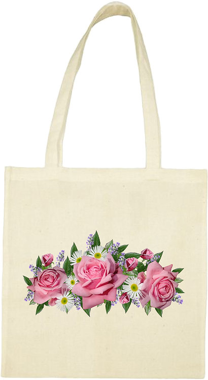 tot bag roses  anglaise