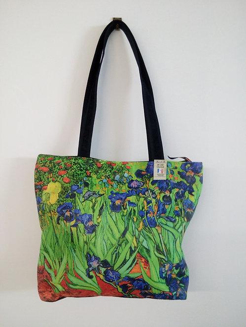sac cabas shopping les iris van Gogh muriel-m