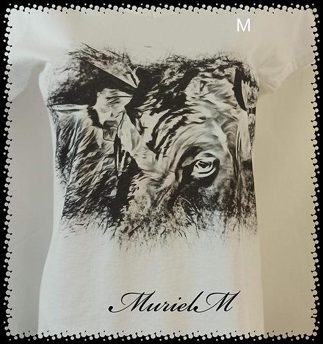 tee shirt taureau dessin imprimé