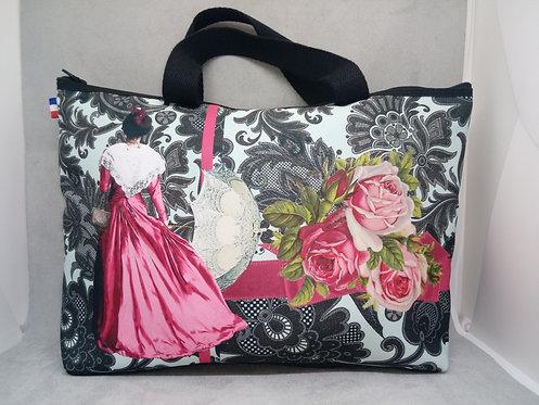 sac poignée arlésienne rose ombrelle