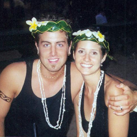 Jeremy and Melissa Luau in Hawaii