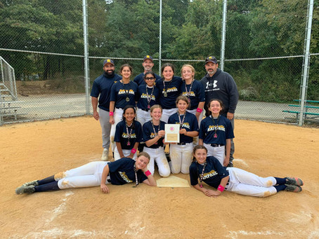 Robbinsville Rampage 12U (Hulme) Places 2nd in the EHT Annual Breast Cancer Awareness Tournament