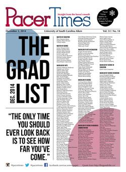December Grad List Cover