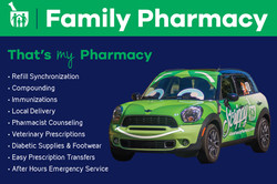 Family Pharmacy Postcard