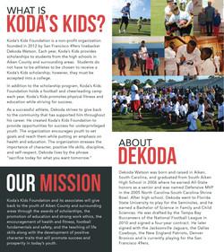 Koda's Kids Brochure Inside