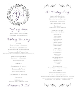Caylen & Sefan Wedding Program