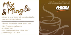 Mix and Mingle Event invitation