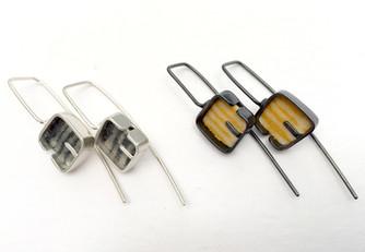 Mini Cobble Drop Ear Rings