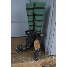 "Black Bandana Witch Boots (set of 2) 14"" x 7.5"""