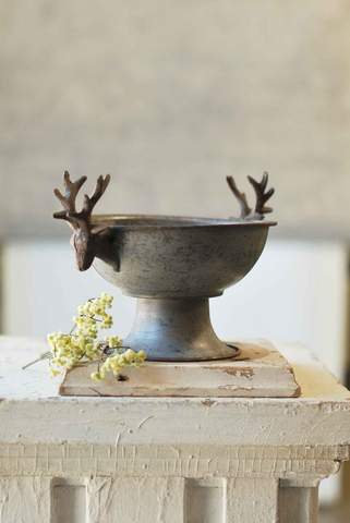 Pewter Stag Bowl