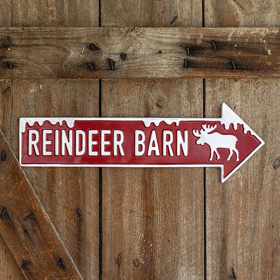 Reindeer Barn Wall Sign