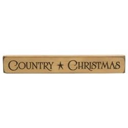 COUNTRY CHRISTMAS Wood Block