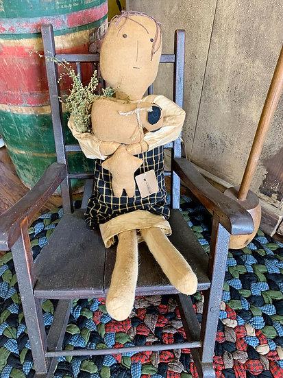 Handmade Grungy Primitive Doll