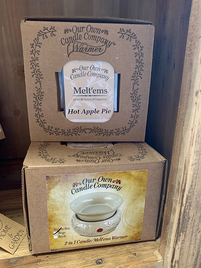 Wax Melt Warmer with Apple Pie Melts